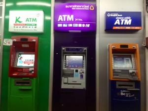 Geldautomaten gibt es in Thailand an fast jeder Ecke in ausreichender Zahl