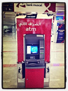 Geldautomat am Flughafen Muscat im Oman