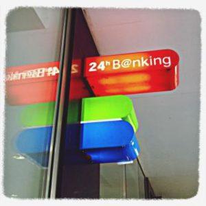 Geldautomat in Östereich
