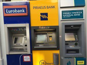 Geld abheben in Griechenland