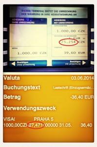 Geldautomat tschechien-Falle