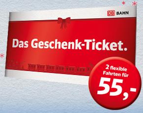 Bahn Geschenk Ticket